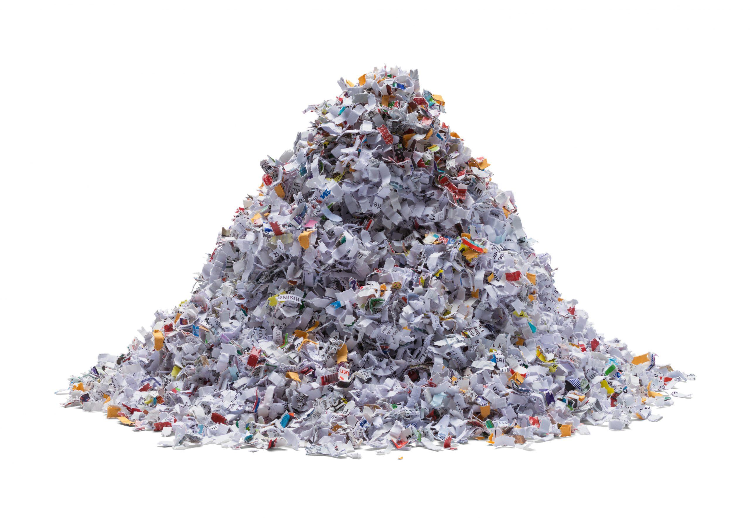 Shredded Paper Pile